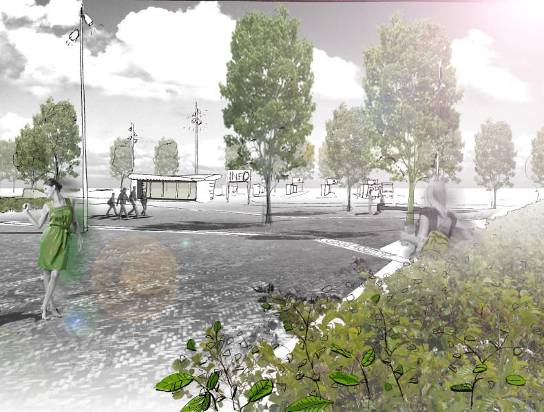 Groene Mobiliteitspleinen in het Almere Olympiakwartier