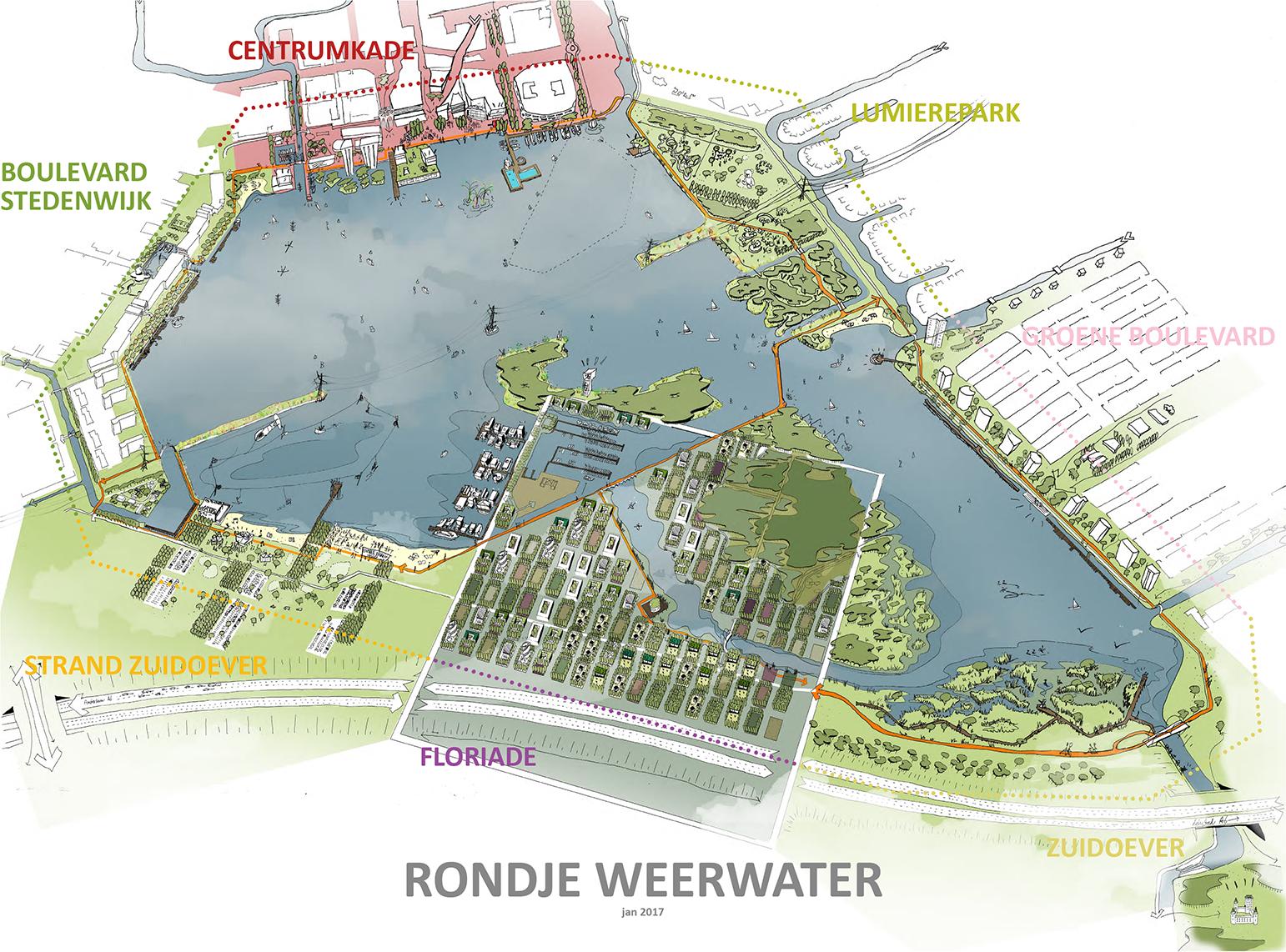 3D impressie rondje Weerwater